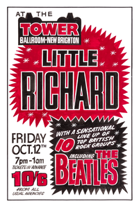 The Beatles Fridge Magnet Little Richard Poster