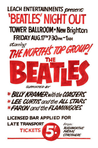The Beatles Night Out Concert Poster 1962