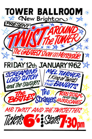 The Beatles 'Twist Around The Tower' Poster 1962