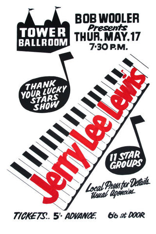 Jerry Lee Lewis 'Thank Your Lucky Stars Show' Poster 1962
