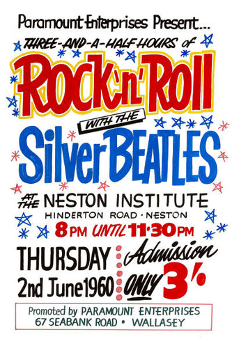 Rock 'n' Roll with The Silver Beatles Concert Poster 1962