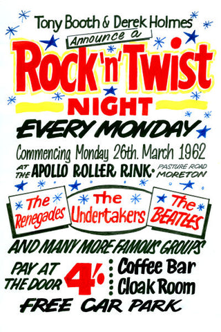 The Beatles Rock 'n' Twist Night Poster 1962