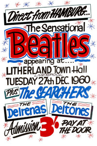 The Beatles 'Direct From Hamburg' Concert Poster 1960