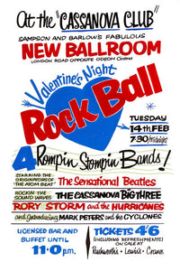The Beatles Valentines Night Rock Ball Concert Poster 1961