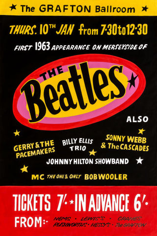 The Beatles at The Grafton Ballroom Concert Poster 1963
