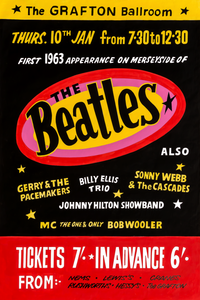 The Beatles Fridge Magnet Grafton Ballroom 1963