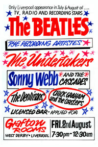 The Beatles & The Undertakers Concert Poster 1963