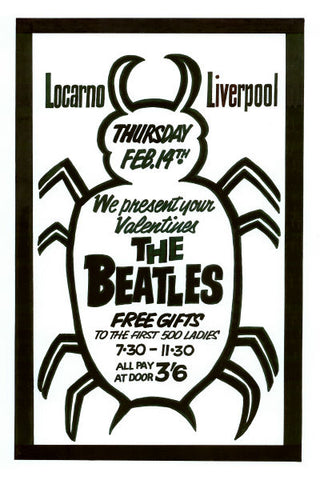 The Beatles Valentines Day Concert Poster 1963