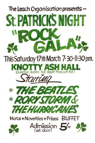 The Beatles St. Patricks Night Rock Gala Poster