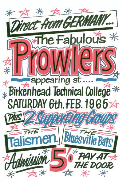 The Prowlers Birkenhead Technical College Concert Poster 1965