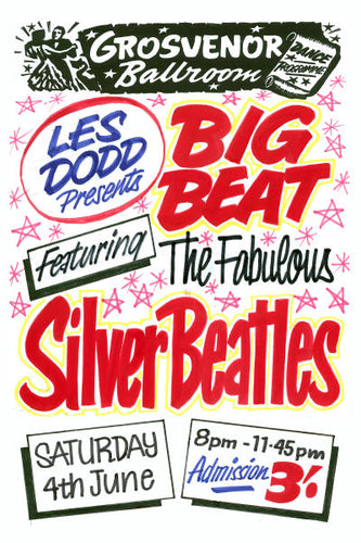 The Fabulous Silver Beatles Concert Poster 1960