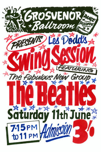 The Beatles Swing Session at Grosvenor Ballroom Poster 1960