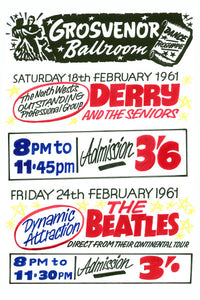 Derry And The Seniors & The Beatles Concert Poster 1961