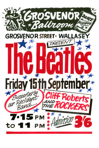 The Beatles Grosvenor Ballroom Concert Poster 1961