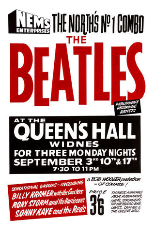The Beatles at The Queens Hall Concert Poster 1962