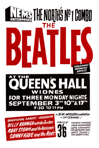 The Beatles Fridge Magnet Widnes Concert Poster