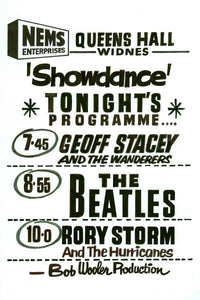 The Beatles in Widnes Gig Poster 1962