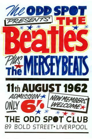 The Beatles & The Mersey Beats Gig Poster 1962