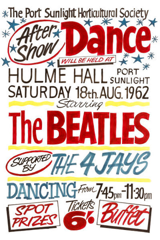 The Beatles at Hulme Hall Concert Poster 1962
