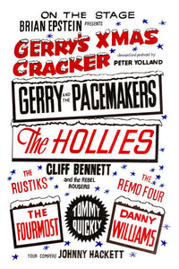 Gerry And The Pacemakers Xmas Cracker Concert Poster 1964
