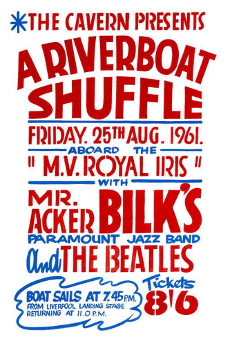 The Beatles 'Riverboat Shuffle' Concert Poster 1961