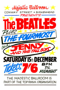The Beatles Majestic Ballroom Birkenhead Concert Poster 1962