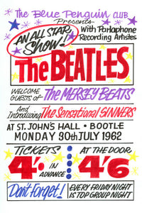The Beatles St Johns Hall Bootle Concert Poster 1962