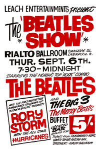 The Beatles Show Fridge Magnet 1962