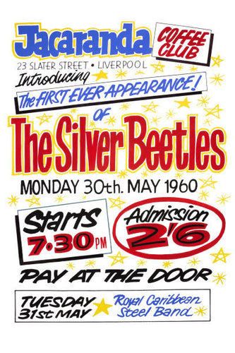 The Beatles First Appearance At The Jacaranda Club Poster 1960