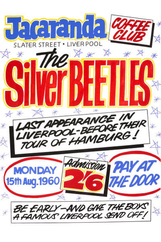 The Silver Beetles At The Jacaranda Club Concert Poster 1960