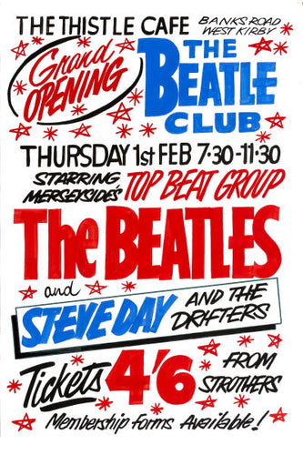The Beatles at The Thistle Cafe Concert Poster 1962