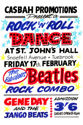 The Beatles Rock 'n' Roll Dance Concert Poster 1961