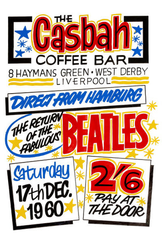 The Beatles at The Casbah Concert Poster 1960
