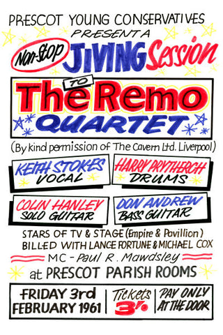 The Remo Quartet Concert Poster 1961