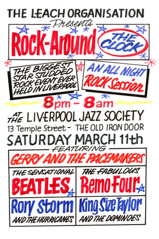 The Beatles at The Old Iron Door Concert Poster 1961