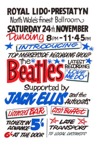 The Beatles Royal Lido Prestatyn Poster 1962