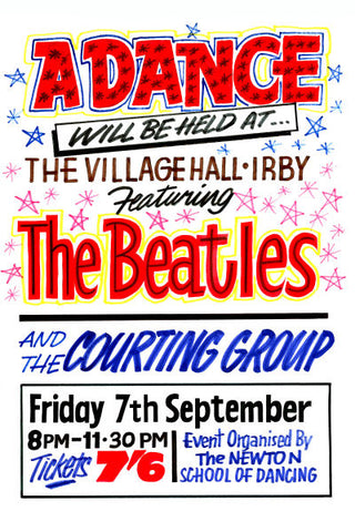 The Beatles Irby Concert Poster 1962