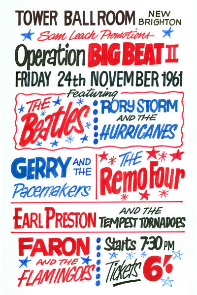 The Beatles 'Operation Big Beat 2' Concert Poster 1961