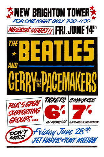 The Beatles at the Tower Ballroom Concert Poster 1963