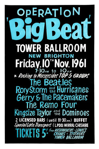 The Beatles 'Operation Big Beat' Concert Poster 1961