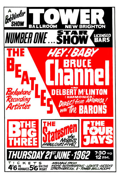 The Beatles & Bruce Channel Concert Poster 1962