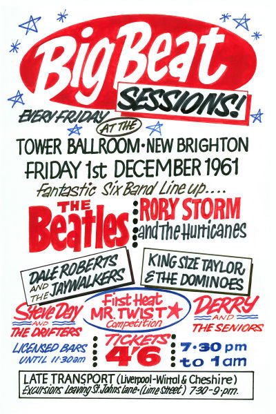 The Beatles 'Big Beat Sessions' Concert Poster 1961