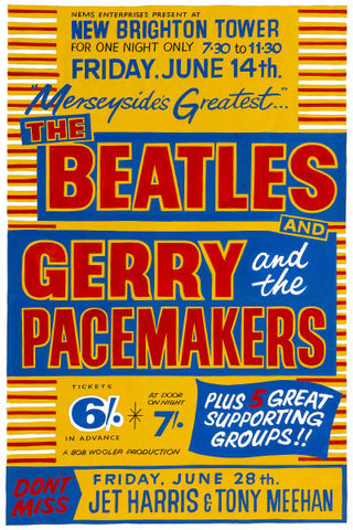The Beatles & Gerry and the Pacemakers Concert Poster 1963