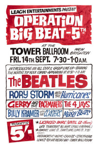 The Beatles 'Operation Big Beat 5' Concert Poster 1962