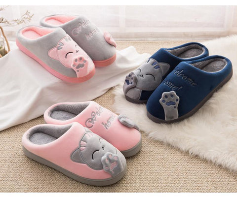 Cute Cat Home Slippers