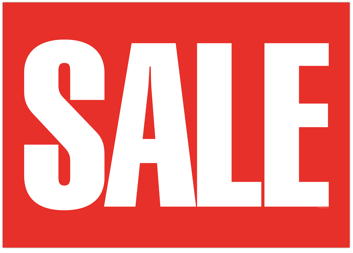 A1 Sale Poster
