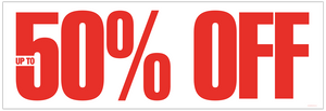 'Up to 50% Off' Banner