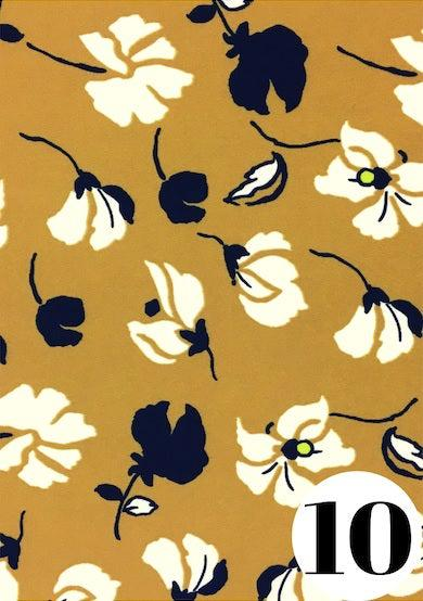Keen as mustard fabric print by ColieCo