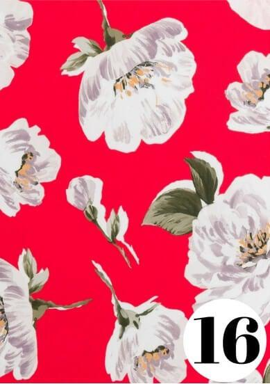 Red Camellia fabric print by ColieCo Lingerie