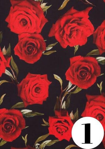 Rose Noir fabric print by ColieCo Lingerie